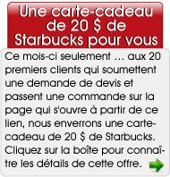Une carte-cadeau de 20 $ de Starbucks pour vous