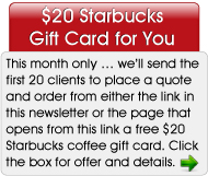 $20 Starbucks Gift Card Special